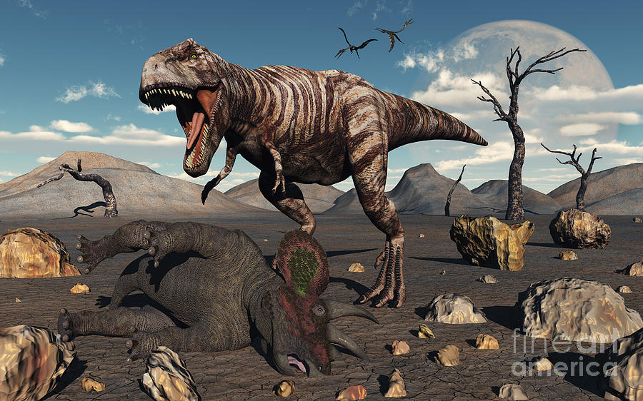 Natural History Digital Art - A T. Rex Is About To Make A Meal by Mark Stevenson