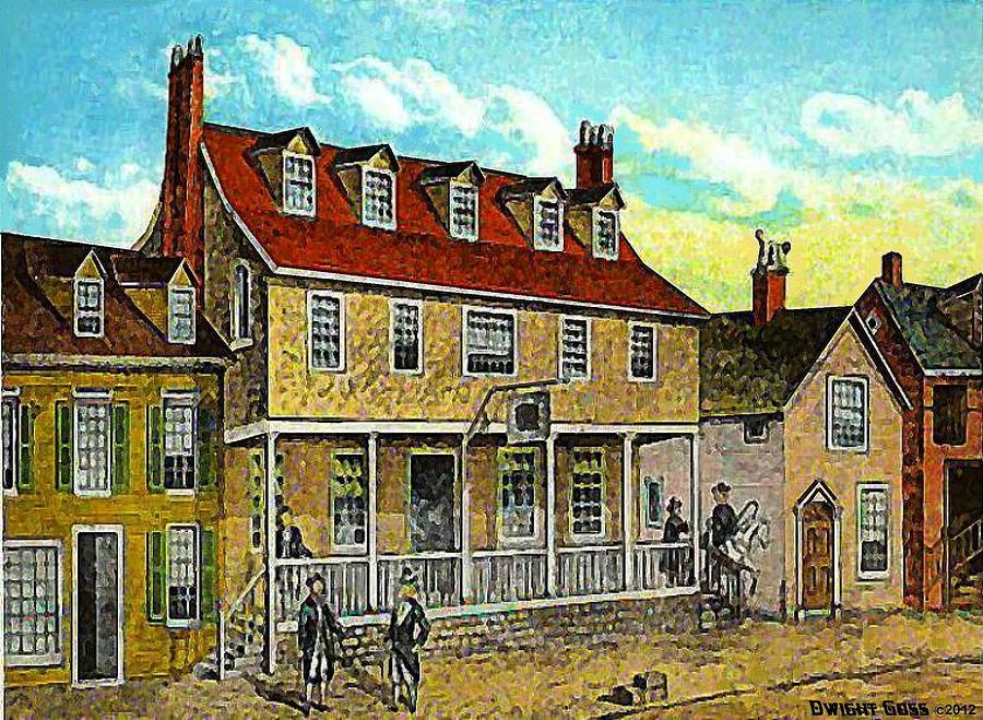 Philadelphia Pa Painting - A Tavern In Philadelphia Pa by Dwight Goss