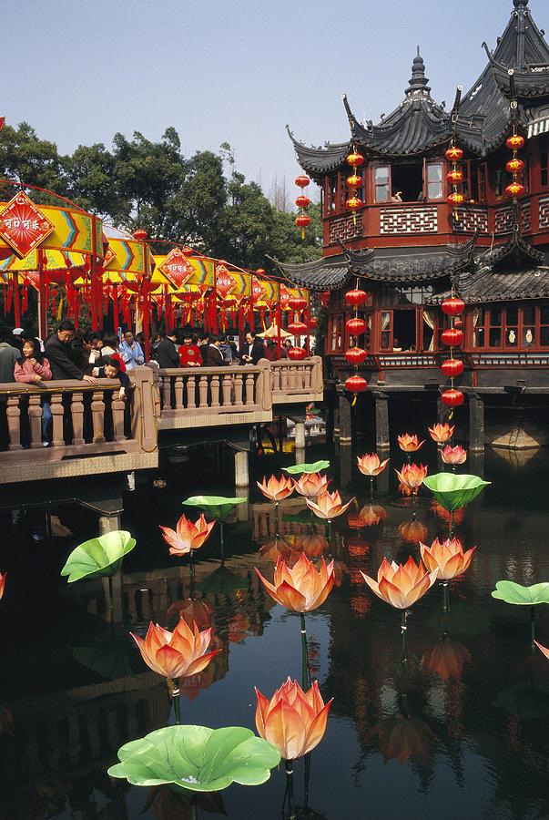 Asia Photograph - A Tea House In Shanghais Yuyuan Garden by Justin Guariglia