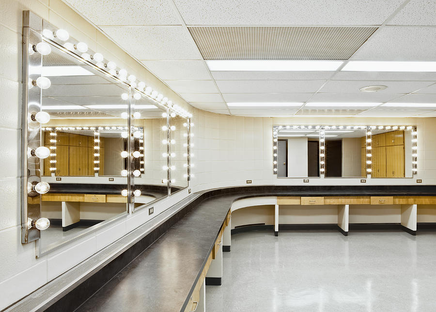 No People Photograph - A Theater Dressing Room by Greg Stechishin