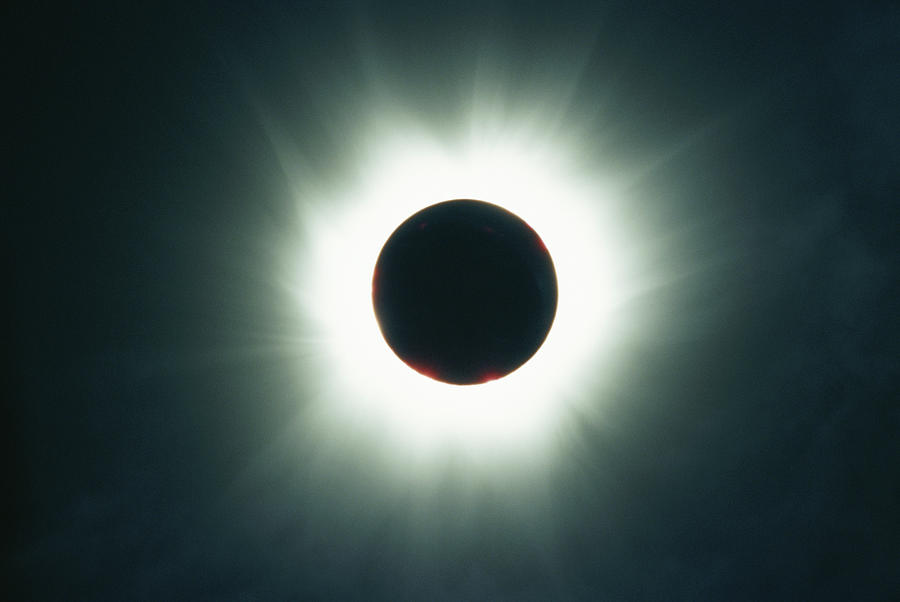 Color Image Photograph - A Total Solar Eclipse Over France by Carsten Peter