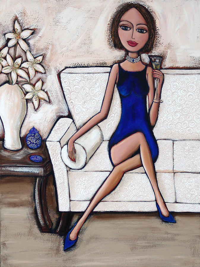 Blue Painting - A Touch Of Class by Denise Daffara