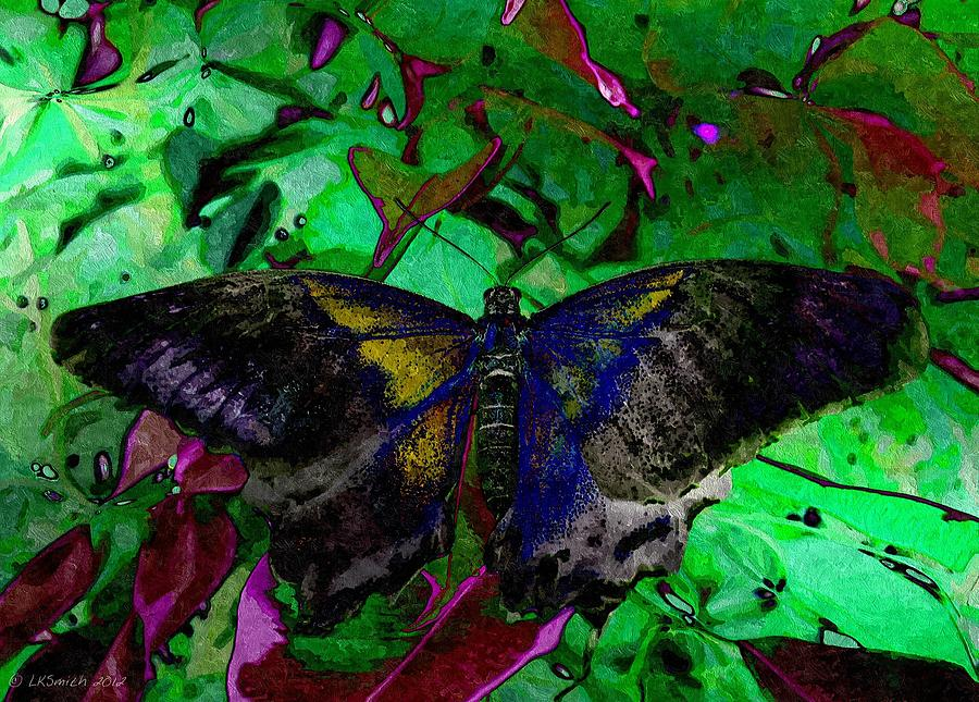 Butterfly Painting - A Touch Of Gold by Lynda K Cole-Smith