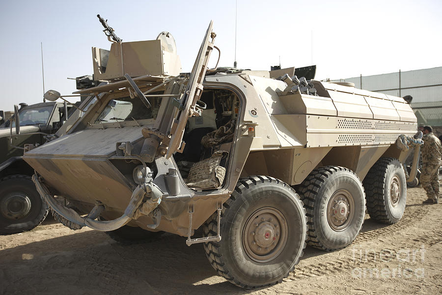 Isaf Photograph - A Tpz Fuchs Armored Personnel Carrier by Terry Moore