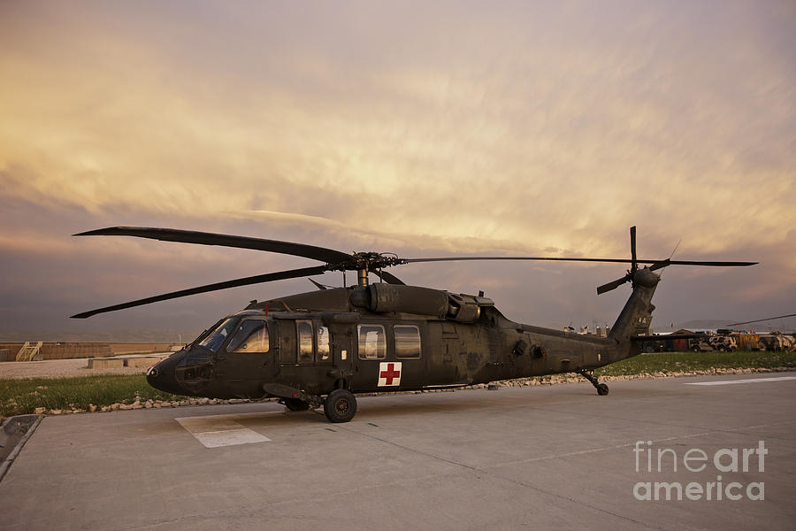 Blackhawk Photograph - A Uh-60l Black Hawk Medevac Helicopter by Terry Moore
