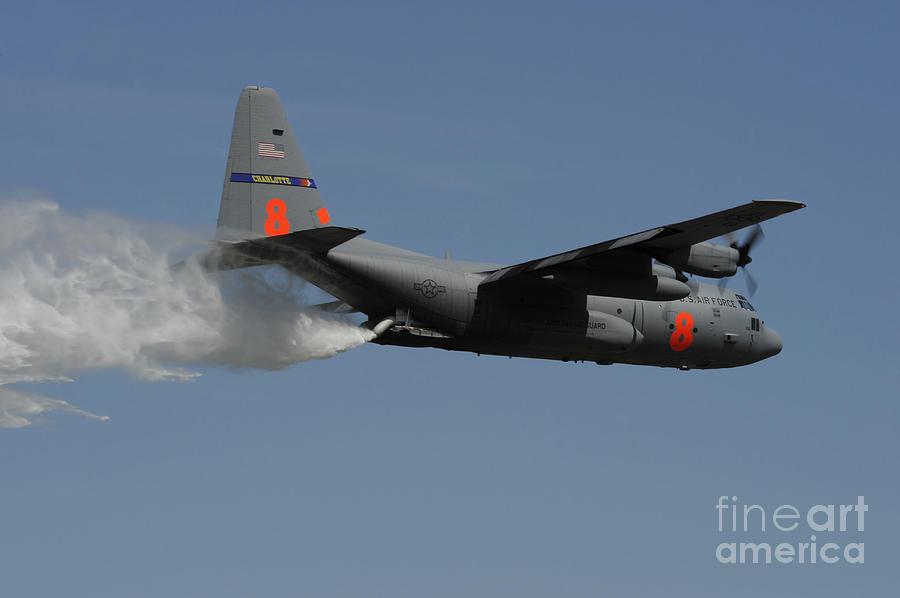 South Carolina Photograph - A U.s. Air Force C-130 Hercules by Stocktrek Images