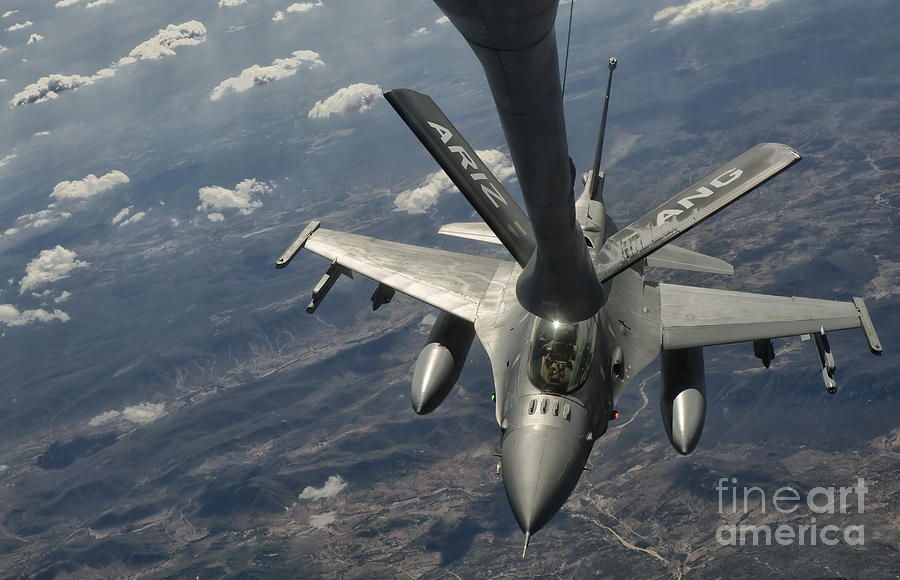 Transportation Photograph - A U.s. Air Force F-16c Block 50 by Giovanni Colla