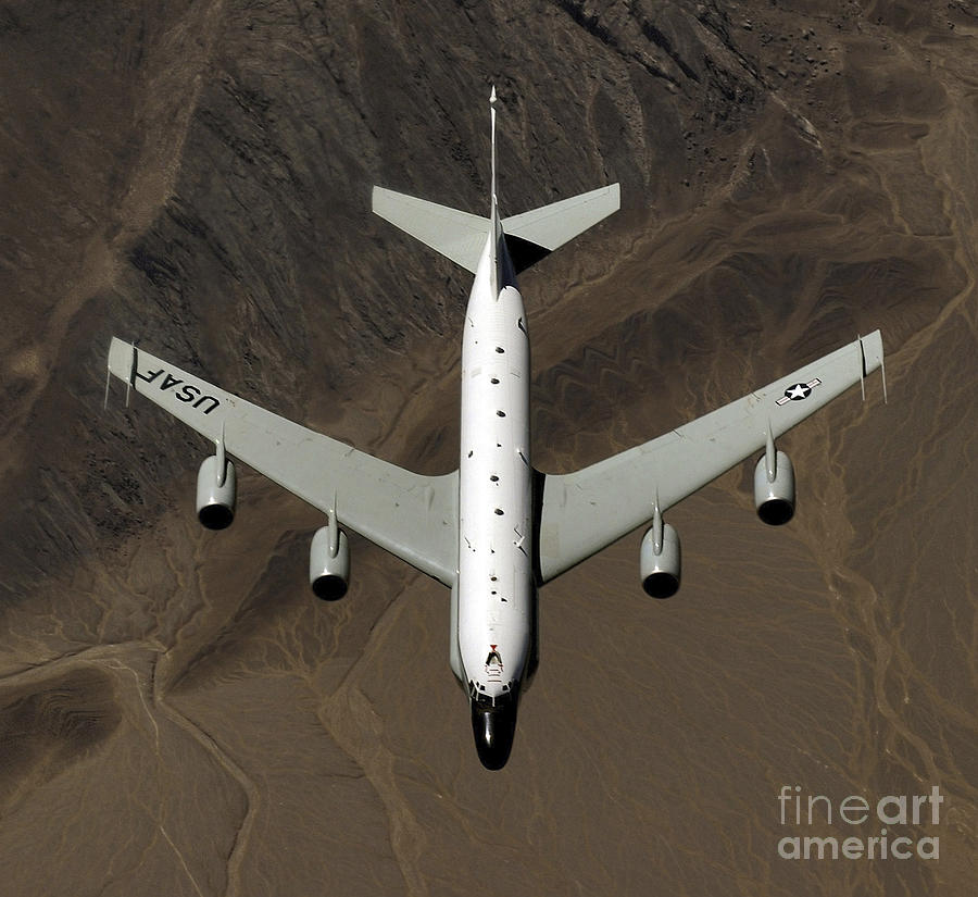 Kyrgzstan Photograph - A U.s. Air Force Rc-135 Rivet Joint by Stocktrek Images