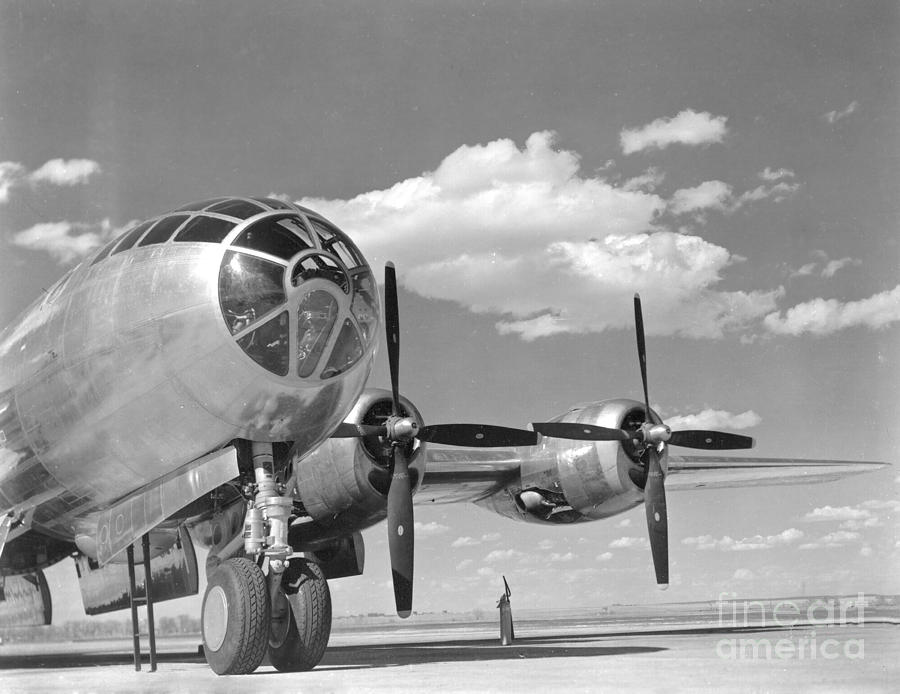 B-29 Photograph - A U.s. Army Air Forces B-29 by Stocktrek Images
