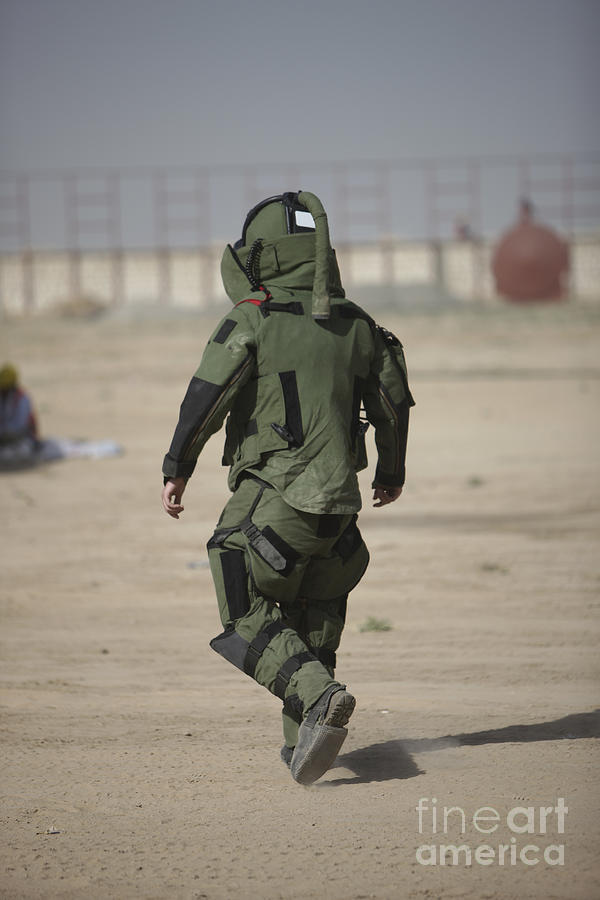 Kunduz Photograph - A U.s. Marine Tries Running In A Bomb by Terry Moore