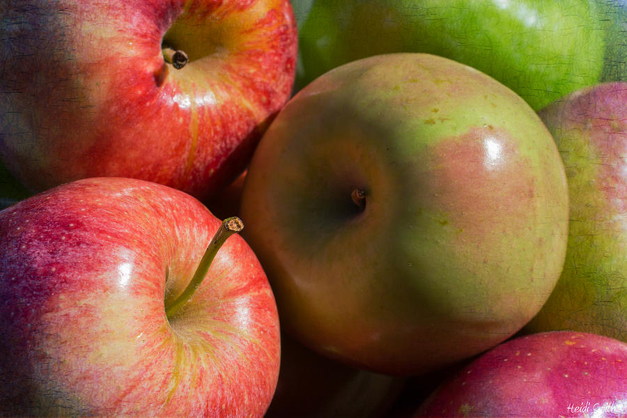 Apple Photograph - A Variety Of Apples by Heidi Smith