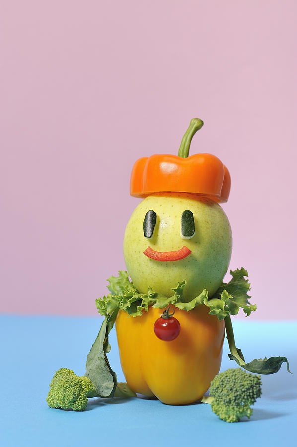 Vertical Photograph - A Vegetable Doll by Yagi Studio