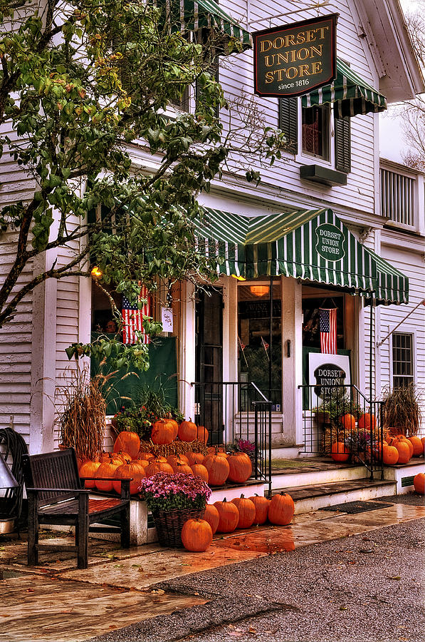 Vermont Photograph - A Vermont Classic - Dorset Union Country Store by Thomas Schoeller