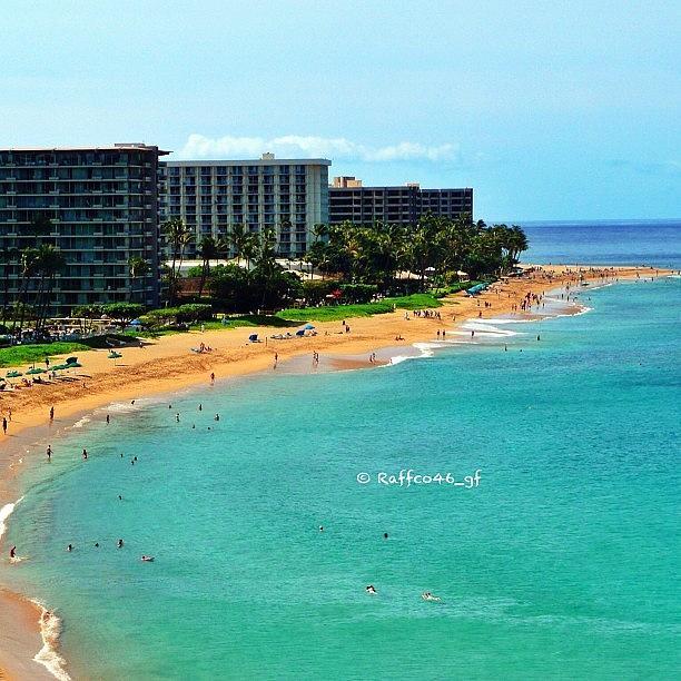Instagram Photograph - A View From The Sheraton, Maui. #beach by Raffaele Salera