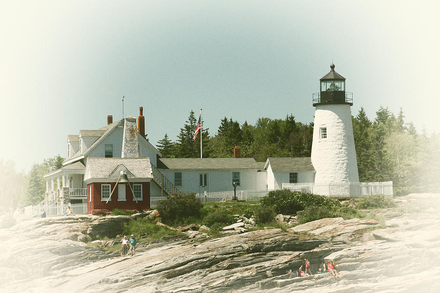Lighthouse Photograph - A View From The Water by Karol Livote