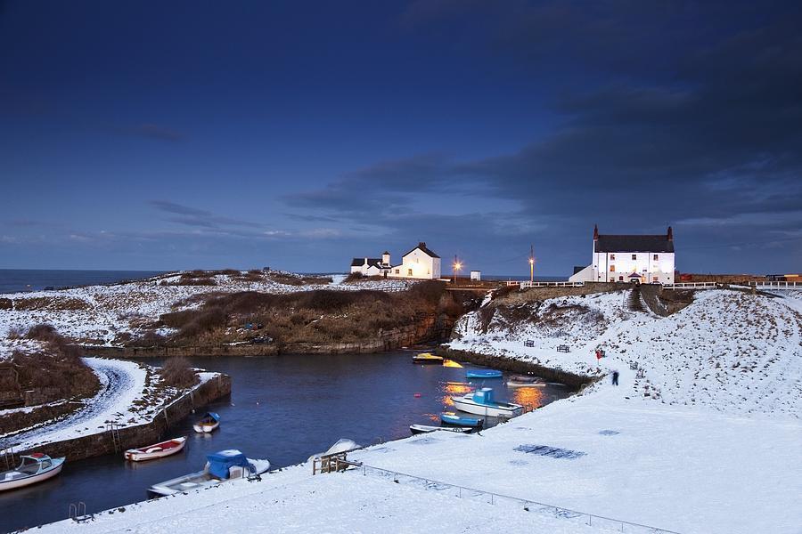Northumberland Photograph - A Village On The Coast Seaton Sluice by John Short