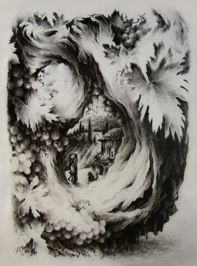 Fantasy Drawing - A Vintage Romance by Rachel Christine Nowicki