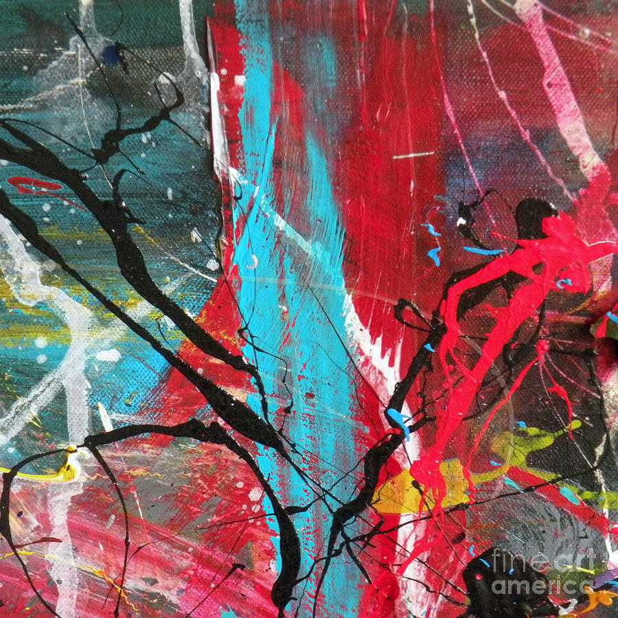 Red Mixed Media - A Vision by Robert Daniels