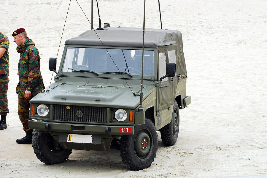 Military Photograph - A Vw Iltis Jeep Of A Unit Of Belgian by Luc De Jaeger