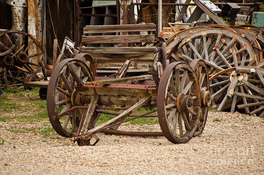 Wagon Photograph - A Wagon And Wheels by Donna Greene