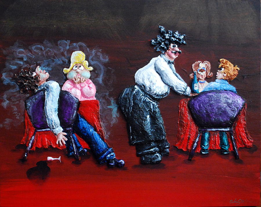 Red Painting - A Waiters Revenge - Silent But Deadly by Alison  Galvan