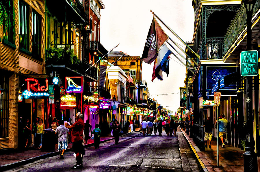 A Walk Down Bourbon Street Photograph By Bill Cannon