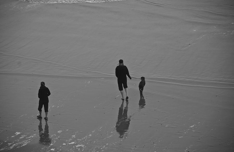 Oregon Photograph - A Walk In The Beach by Eric Tressler