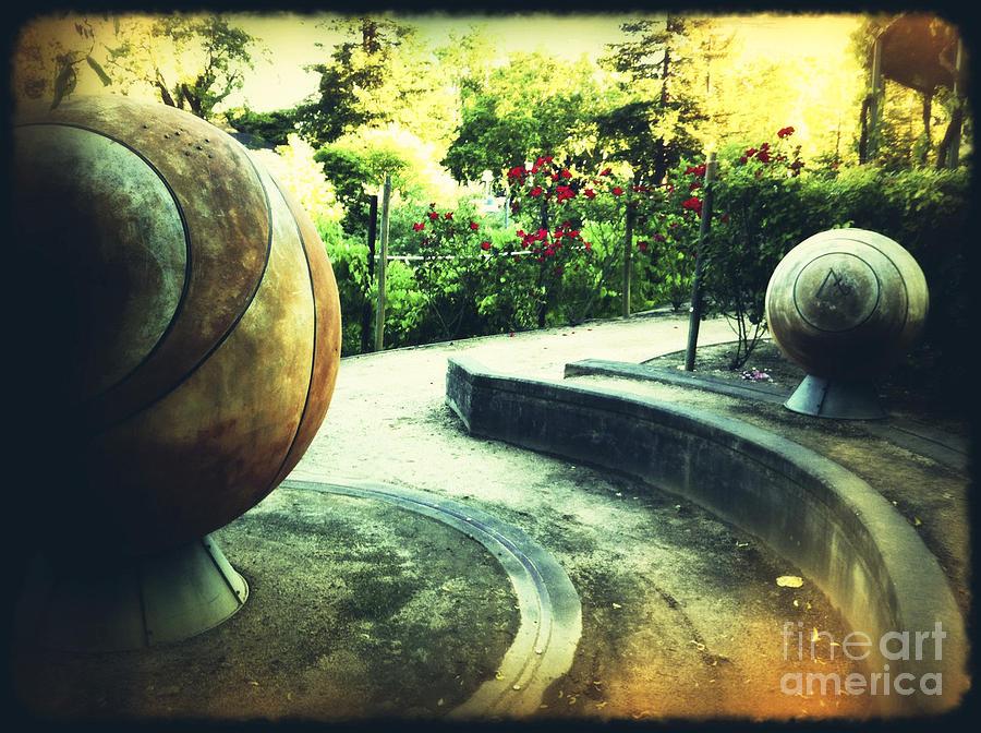 Garden Photograph - A Walk In The Garden by Leslie Hunziker