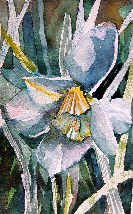 Daffodil Painting - A Weepy Daffodil by Mindy Newman