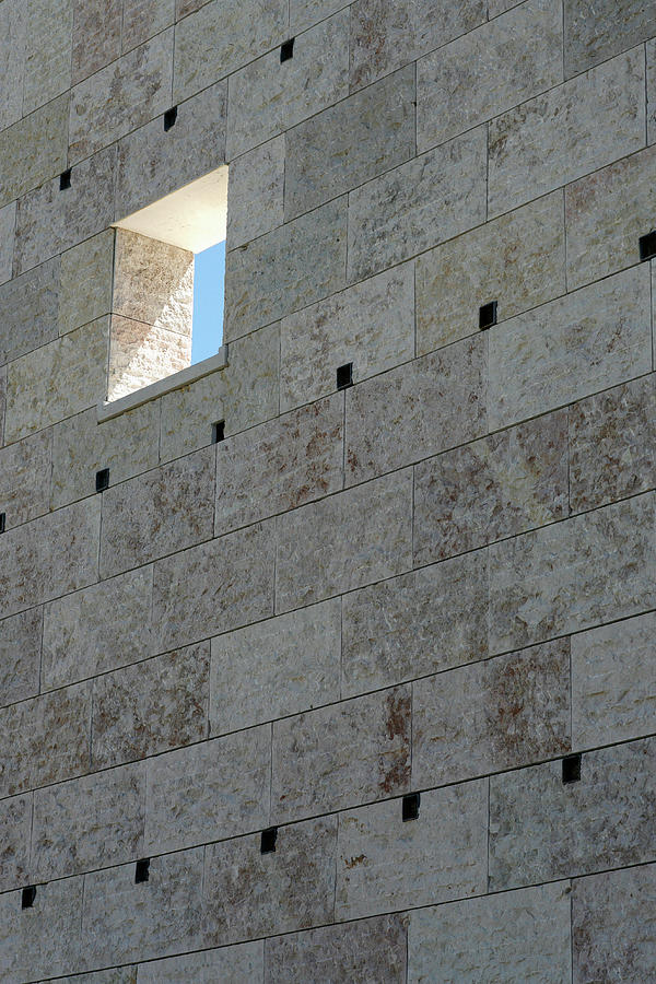 A Window In A Stone Wall Photograph by Marc Volk