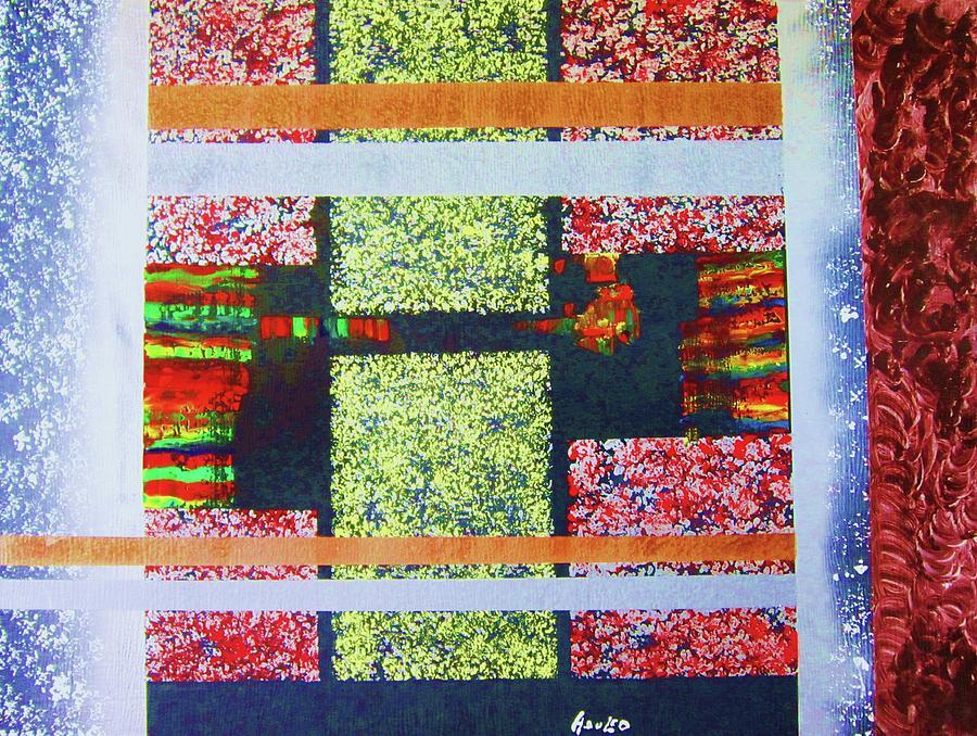 Abstract Painting - A Window Of Life by Adolfo hector Penas alvarado