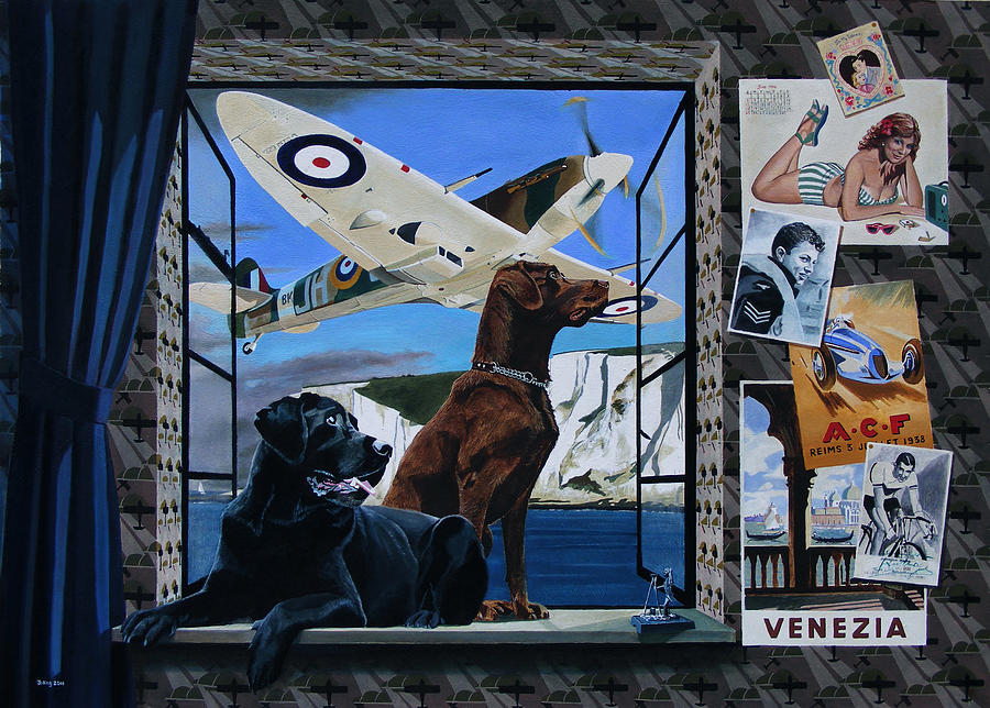 Spitfire Painting - A Window Of Life  by Jo King