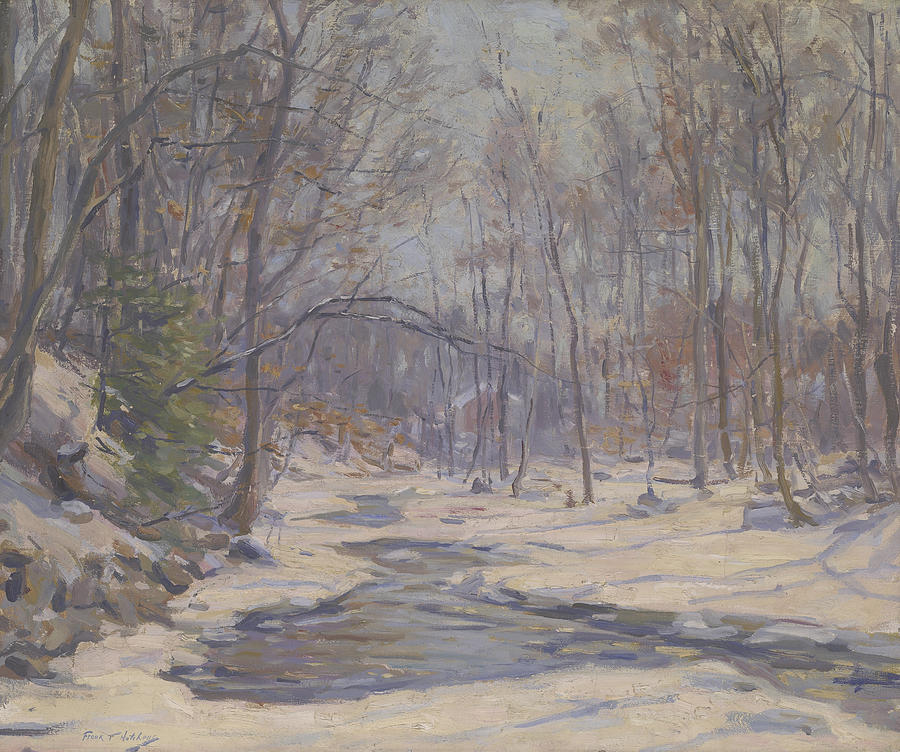 Landscape Painting - A Winter Morning  by Frank Townsend Hutchens