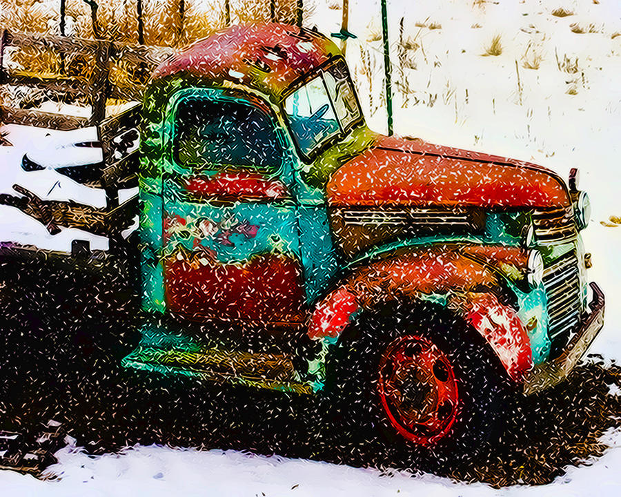 Truck Photograph - A Winter Near Taos by Terry Fiala