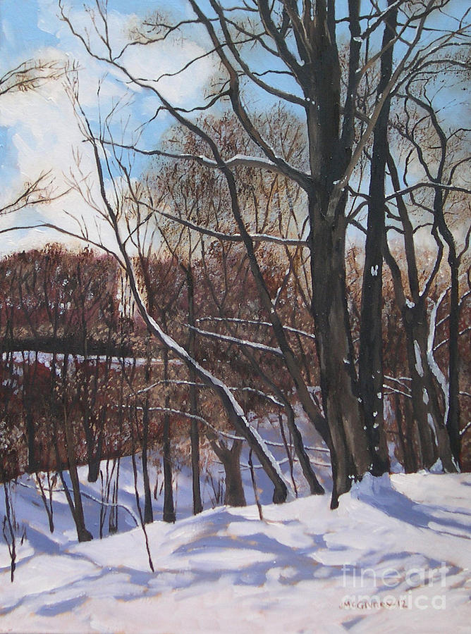 Winter Landscapes Painting - A Winters Day by Joan McGivney