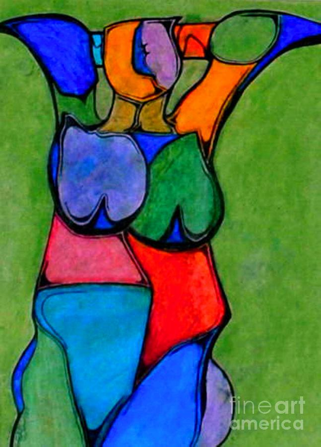abstract Mixed Media - A Womanist Personality by Antione Leonard