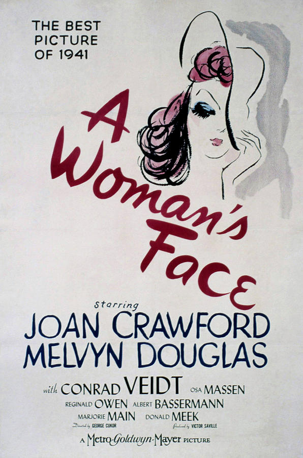 1940s Movies Photograph - A Womans Face, Joan Crawford, 1941 by Everett