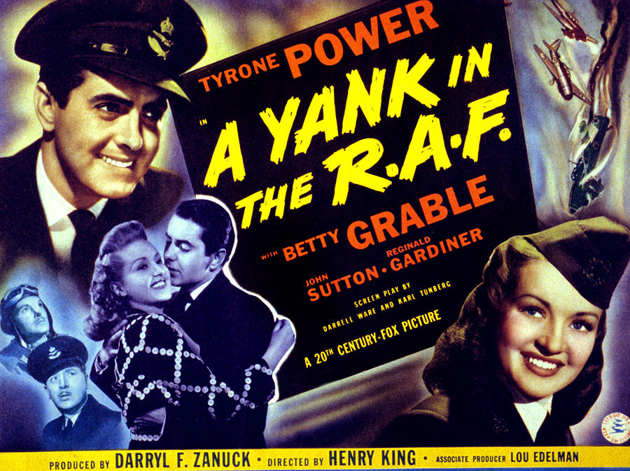 1940s Movies Photograph - A Yank In The R.a.f., Tyrone Power by Everett