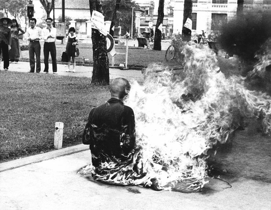 A Young Buddhist Monk Burned Himself Photograph by Everett