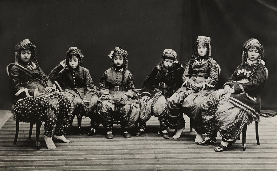 Black And White Photograph - A Young Group Of Well Dressed Nepali by John-Claude White