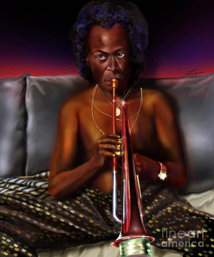 Miles Davis Painting - A Zillion Miles From Here by Reggie Duffie