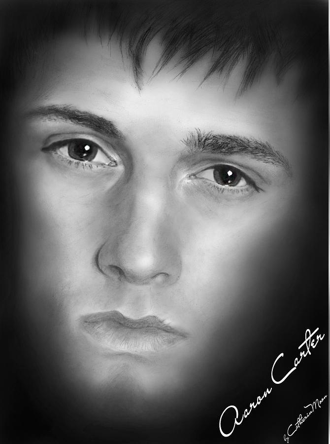 Aaron Carter Digital Art - Aaron Carter by Catherin Moon