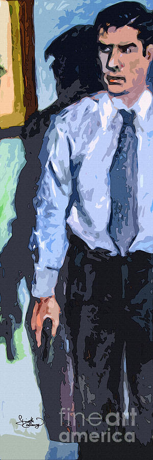 Criminal Minds Painting - Aaron Hotchner Persuing The Reaper by Ginette Callaway