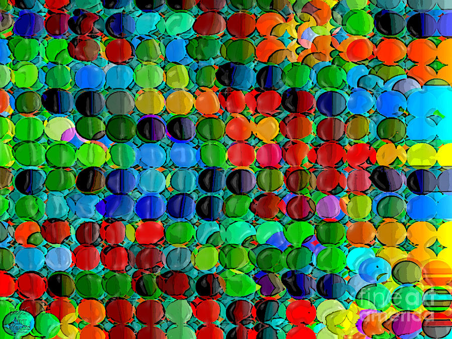 Multicolor Digital Art - Abacus by Dee Flouton