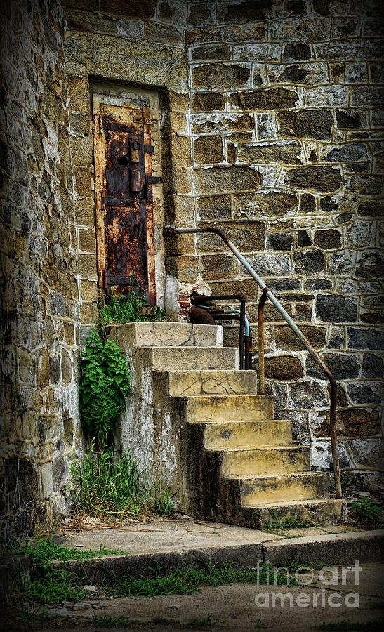 Door Photograph - Abandon Hope by Paul Ward