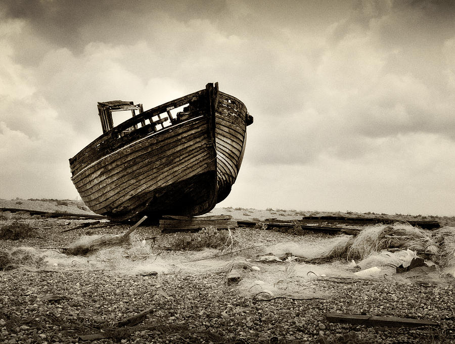 Landscape Photograph - Abandoned At Dungeness by David Turner