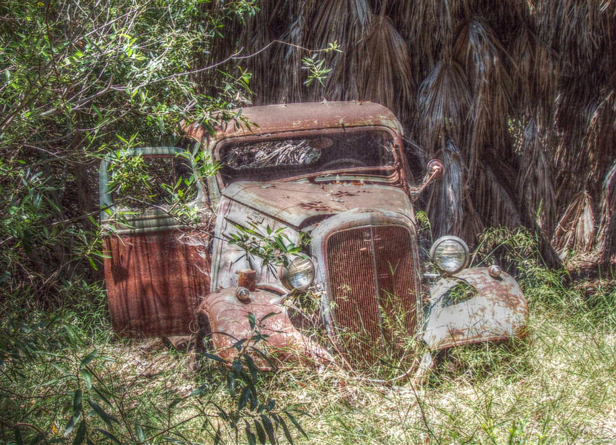 Car Photograph - Abandoned by Cindy Nunn