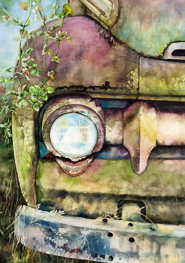 Truck Painting - Abandoned by Diane Fujimoto