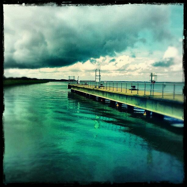 Blue Photograph - Abandoned Jetty #river #broads #water by Invisible Man