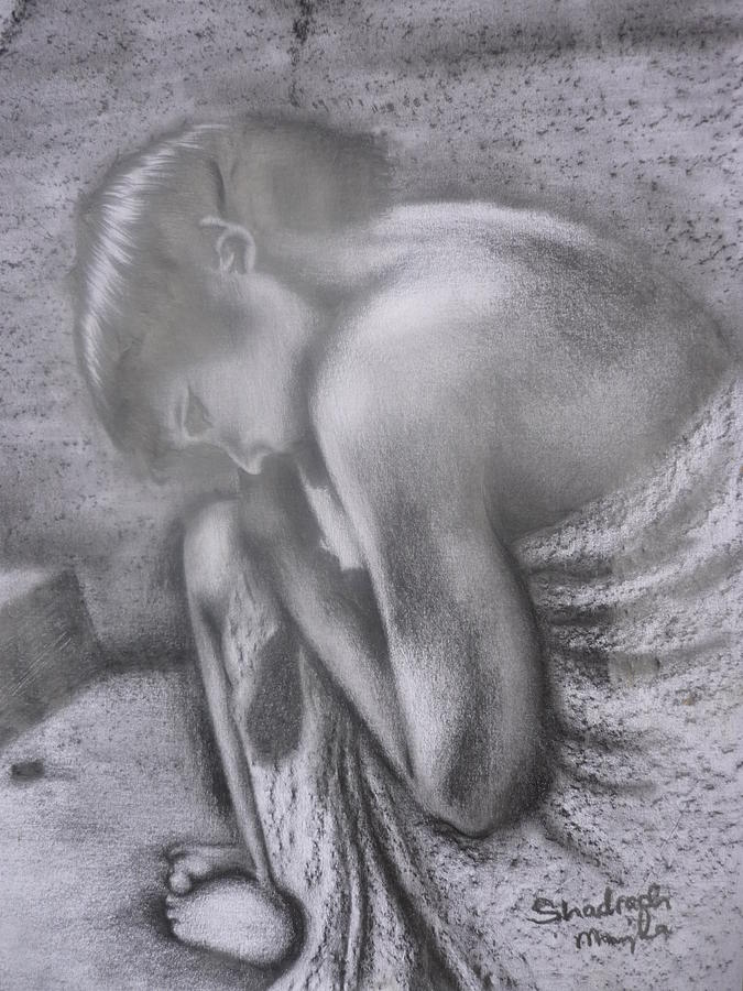Drawing - Abandoned by Shadrach Muyila